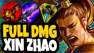 THIS DAMAGE IS RIDICULOUS! FULL DAMAGE XIN ZHAO JUNGLE - ONE SHOT CARRIES - League of Legends