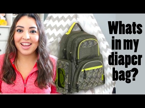 WHATS IN MY DIAPER BAG/BACKPACK | 1 YEAR OLD BOY | MODERN MOM
