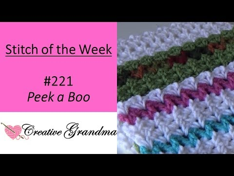 Stitch of the Week #221 Peek A Boo Stitch Pattern (Free pattern at the end of video)