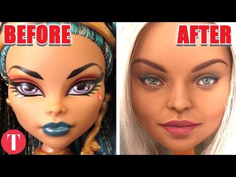 Barbie Dolls Look Like This With Realistic Makeup