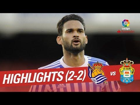Resumen de Real Sociedad vs UD Las Palmas (2-2)