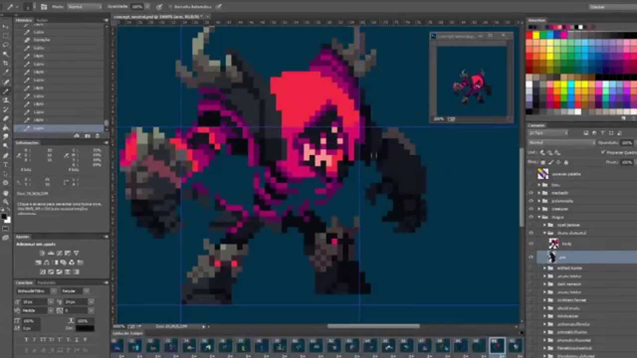 Duelyst Chaos Elemental Pixel Creation Youtube