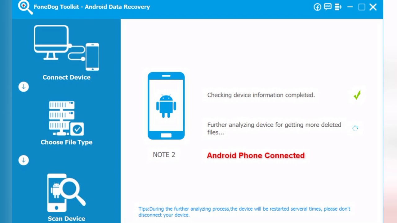 FoneDog - Android Data Recovery (Recover Deleted Messages, photos,  contacts, call logs, whatsApp)