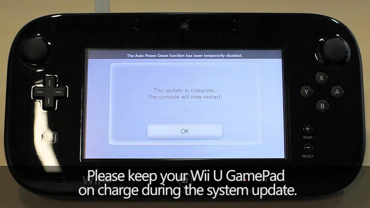 Updating the wii u