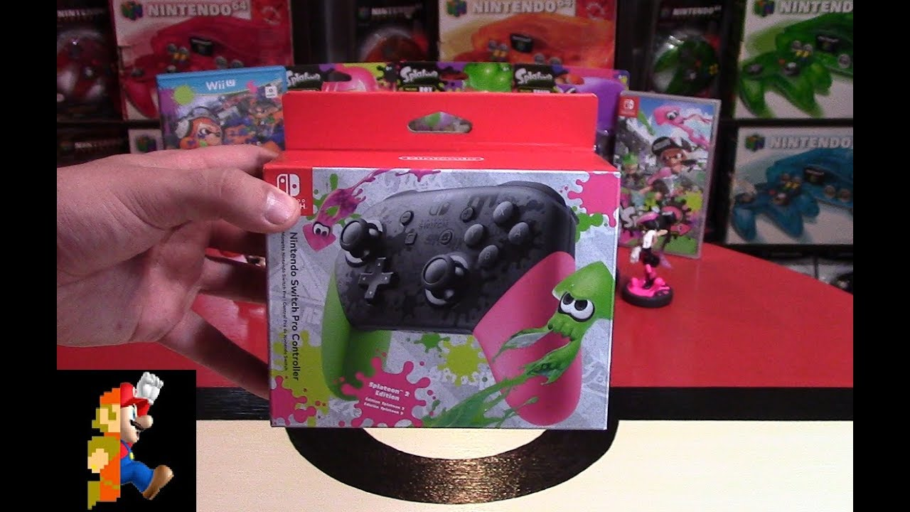 nintendo manette switch pro dition splatoon 2 au meilleur prix sur. Black Bedroom Furniture Sets. Home Design Ideas