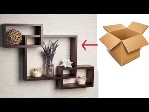 How Ho Make Cardboard Wall Shelf | Cardboard Wall Decor |Home Wall Decorating Ideas |Cardboard art