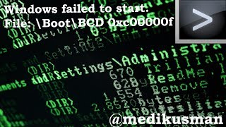 Windows failed to start. File: \Boot\BCD 0xc00000f