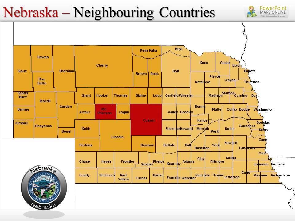 Nebraska Map Exclusive Templates - YouTube