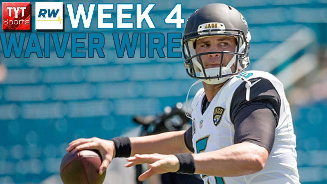 Fantasy Football Week 4 Waiver Wire - YouTube