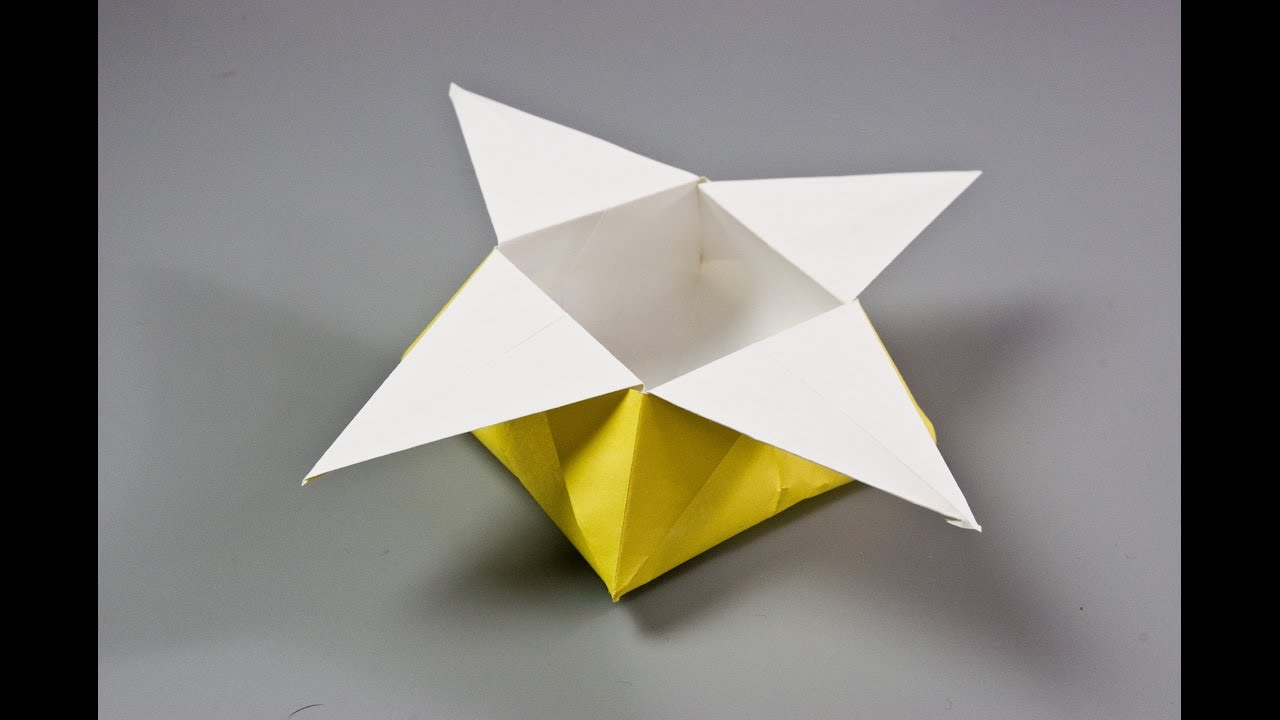 How To Make A Paper Star Box Origami Box Youtube