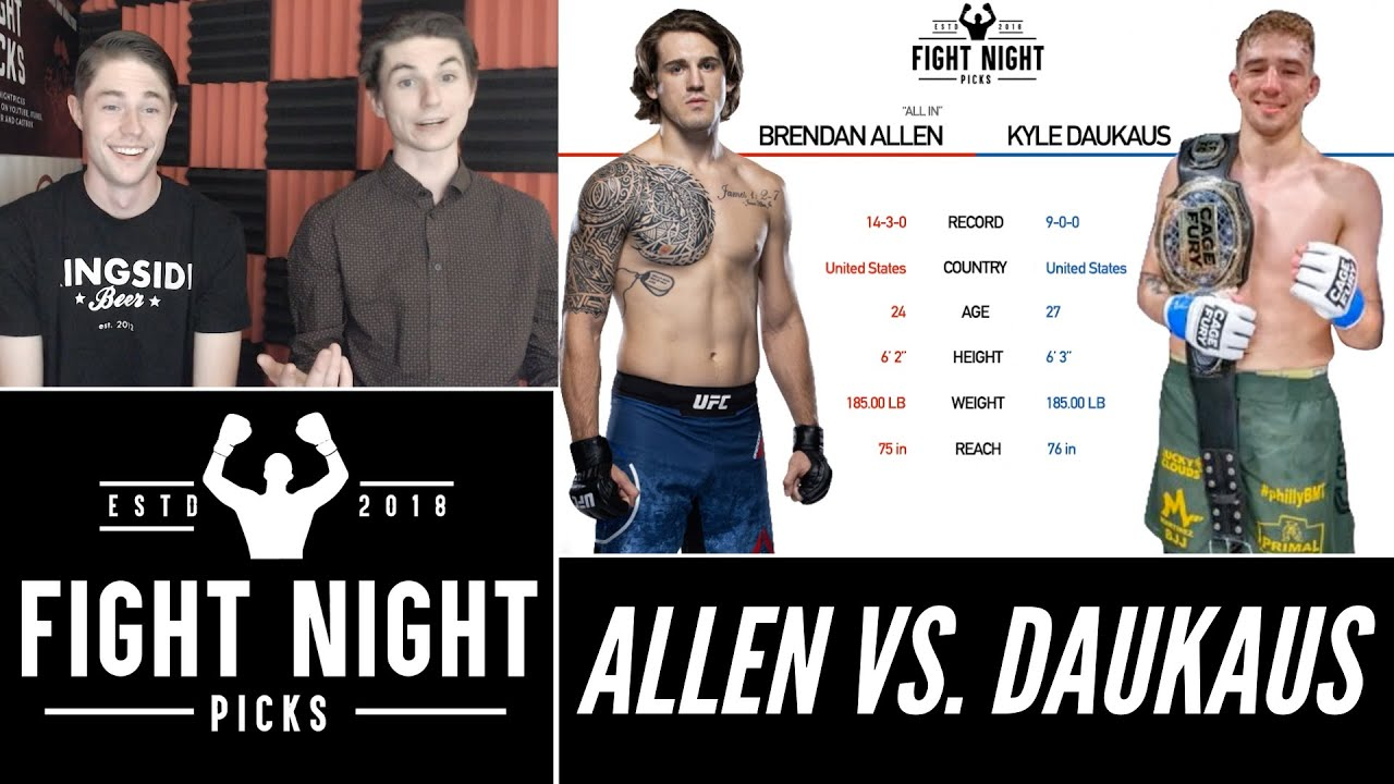 Download UFC Fight Night: Brendan Allen vs. Kyle Daukaus Prediction