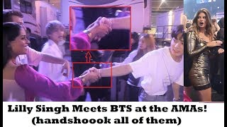 Lilly Singh finally meets BTS at the AMAs!! [cr:superwomanvlogs] MP3