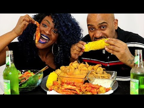 DEEP FRIED KING CRAB LEGS MUKBANG! WHAT WOULD YOU DO IF..... Q&A