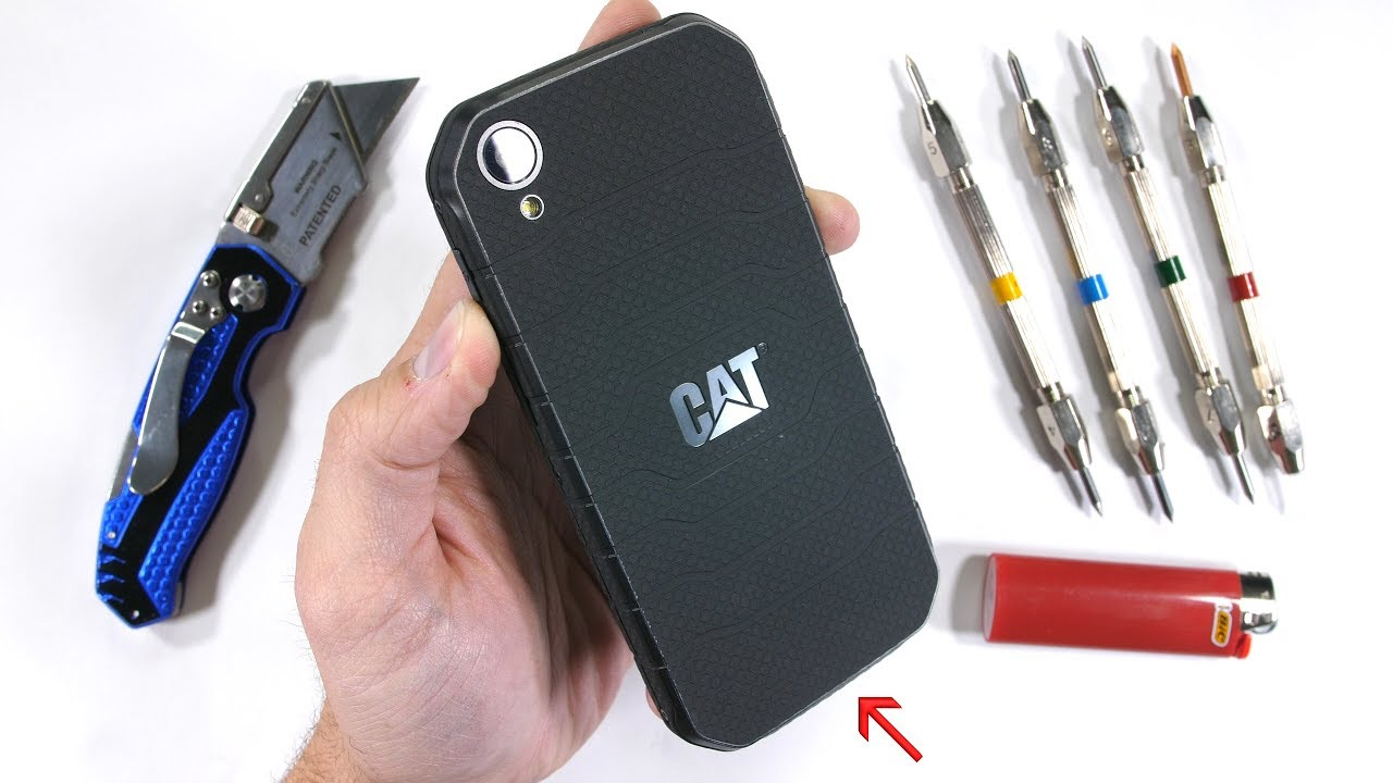 quality design 933ab fd3c7 Testing the Rugged CAT S41 - Scratch, Burn, BEND Tested!