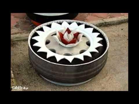 Flowerbeds With Tires 2 Kwietniki Z Opon Cz2