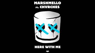 Gambar cover Here With Me - Marshmello, ft.Chvrches