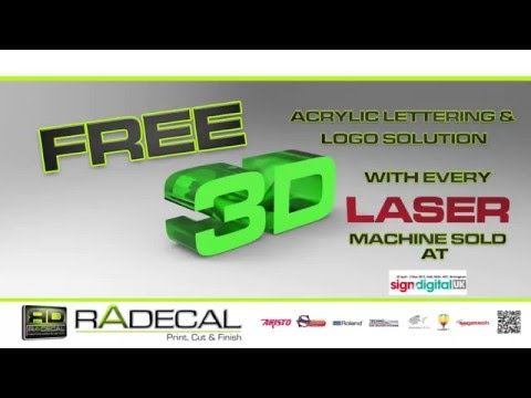 FREE 3D Lettering tools   Acrylic LASER