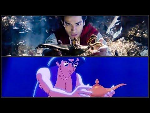 ALADDIN Trailer #2 Side By Side Comparison (2019) Disney HD