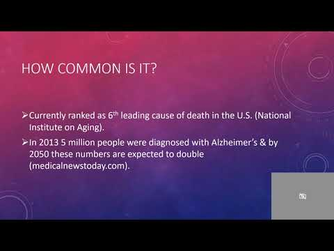 Alzheimer's disease powerpoint