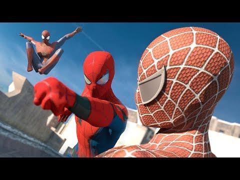 Spider-Man: Homecoming vs. The Amazing Spider-Man vs. Spider-Man | SUPERHERO BATTLE en streaming