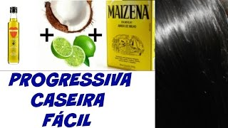 Progressiva caseira Leite de coco, limão, maizena e óleo de coco