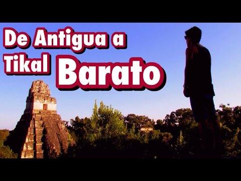 La forma mas BARATA de viajar de Antigua Guatemala a Tikal