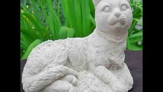 Handcrafted Cement Cat Garden Statues. Animal Statues And Cat Statues Galore!