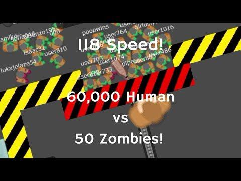 Braains.io | 60,000 Human Vs 50 Zombies! (Hut Hut) RECORD 118.00 SPEED!