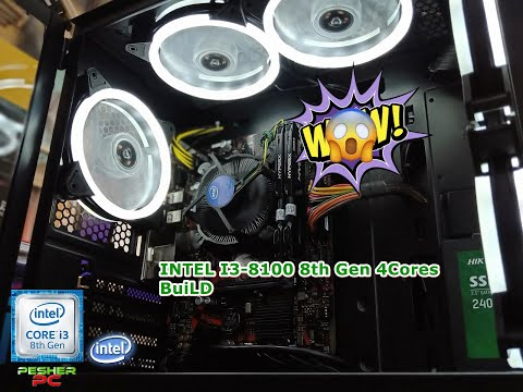 Intel i3-8100 8th Gen Coffelake Unit PC BUILD