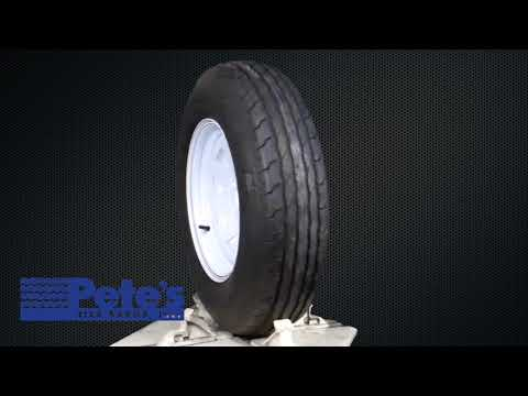 ST205/75D15 Carlisle Sport Trail LH Trailer Tire and Wheel (LRC) (5 Lug)
