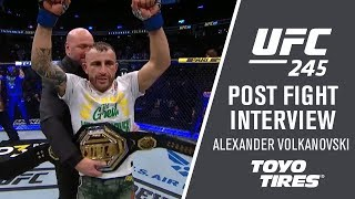 "UFC 245:  Alexander Volkanovski - ""It Was A Bit Of A Chess Match"""