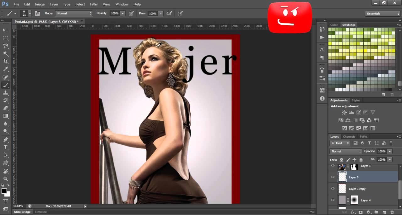 Como crear una portada de revista en Photoshop CS6 Parte 2 - YouTube