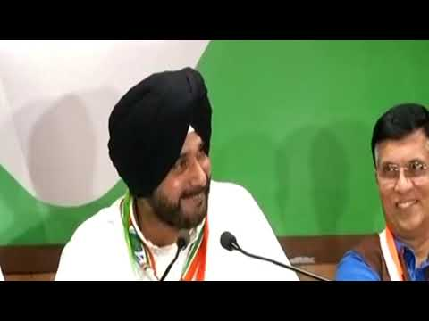 Navjot Singh Sidhu addresses media in Nasirabad, Rajasthan