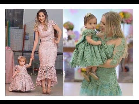 Hermosos Vestidos Para Mamá E Hija Moda Tendencias 20182019