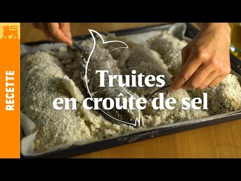 Truites en croûte de sel