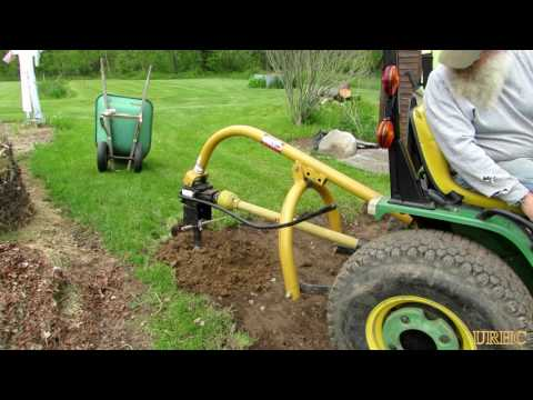 Harbor Freight 62365 Trencher Removing A Stump Doovi