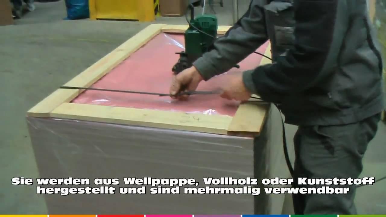Palettenrahmen Www Nordpack De Youtube