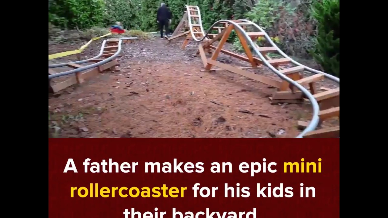 this awesome grandpa makes an epic roller coaster for his