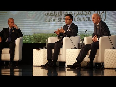 Josep Maria Bartomeu at the Dubai International Sports Conference (ENG)