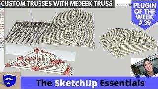 Video Model Trusses Quickly and Accurately with Medeek Truss - SketchUp Extension of the Week #39 download MP3, 3GP, MP4, WEBM, AVI, FLV Juli 2018