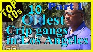 Top 10 Oldest Crip street gangs in Los Angeles (Pt.1of2)