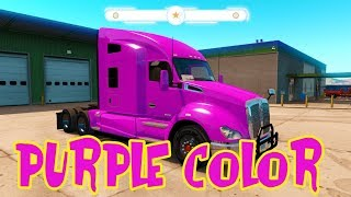 truck color Purple truck no body body in American #Truck #Toy #For kid