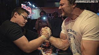 Schoolboy VS Devon Larratt & Toddzilla at Arnold's | ARM WRESTLING 2020
