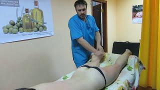Большие ноги, худой верх. Массаж поможет убрать  диспропорцию. How to reduce the leg massage