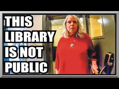 CRAZY LIBRARIAN WON'T LEAVE US ALONE -FREE PUBLIC LIBRARY - First Amendment Audit - Amagansett Press