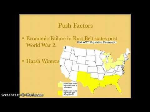 Migration from the Rust Belt to the Sun Belt