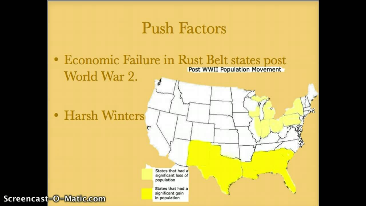 Migration From The Rust Belt To The Sun Belt YouTube - Us sunbelt map
