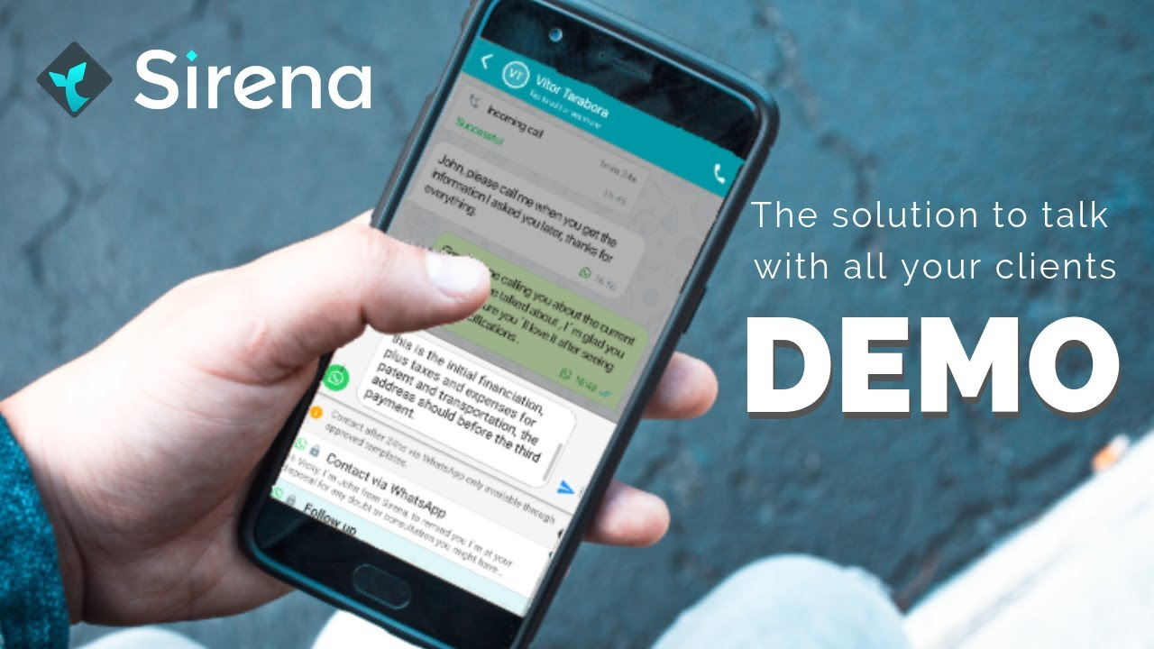 Watch Sirena Demo: Talk to all your clients in just one app