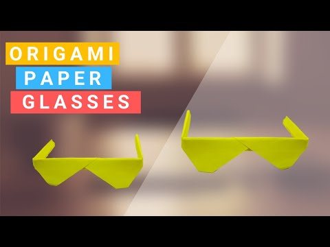 How To Make Origami Paper Glasses || Easy Origami Paper Craft