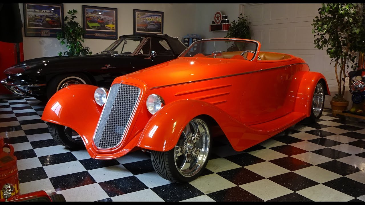 1933 chevrolet chevy roadster custom hot street rod in orange pearl my car story with lou. Black Bedroom Furniture Sets. Home Design Ideas